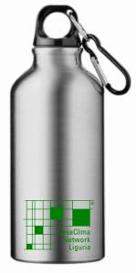 borraccia argento con scritta verde_2
